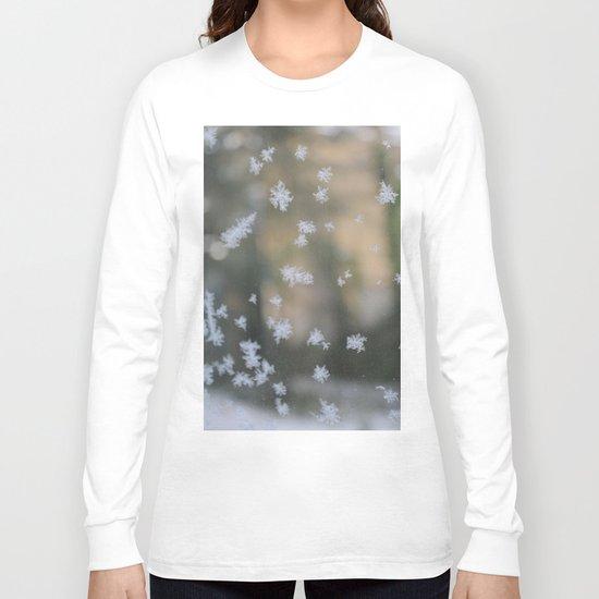 "It's frosty ""Ice Flower"" #2 #art #society6 Long Sleeve T-shirt"