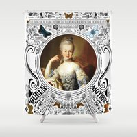 marie antoinette Shower Curtains featuring Ornate Marie Antoinette by Ryan Huddle House of H