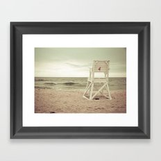 No lifeguard on duty Framed Art Print