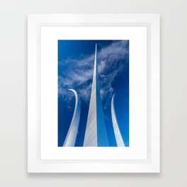 Steel Spires Toward Heaven Framed Art Print