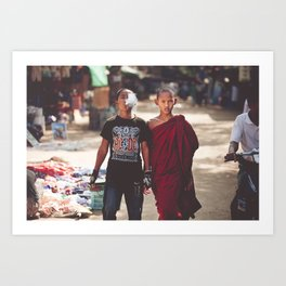 A Punk and a Monk Art Print