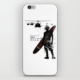 Charlie Dont Surf iPhone Skin