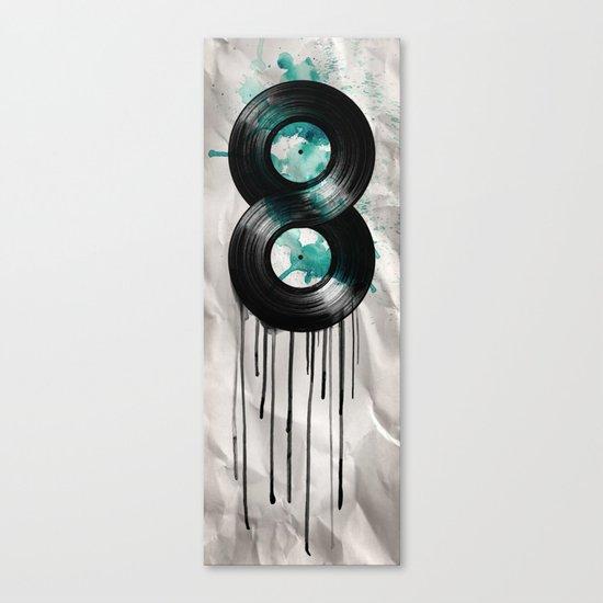 infinity vinyl Canvas Print
