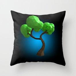 Cute Polygon Tree! Throw Pillow
