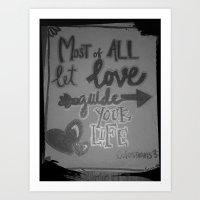Guided love Art Print