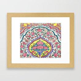 Beauty of tiles Framed Art Print