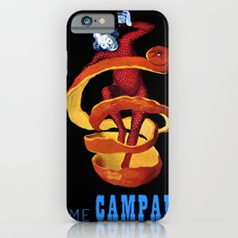 Vintage Blue Motif Tome Campari Aperitif Italian Advertisement by Leonetto Cappiello iPhone Case