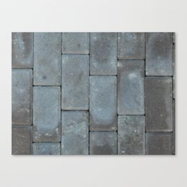 The texture of the tiles on the road paving of the paving Canvas Print