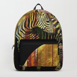 Zebras Lilies and a Harvest Moon Backpack