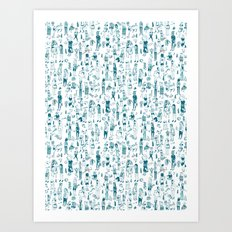 Crowd Pattern Art Print