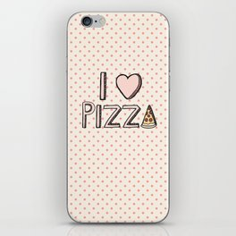 I Love Pizza iPhone Skin