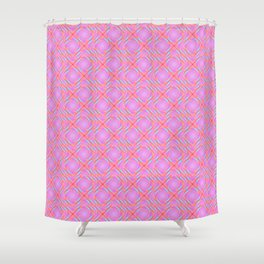 Pastel Broken Diamond Swirl Pattern Shower Curtain