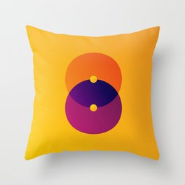 Yellow and Purple 8 (Eight) Throw Pillow