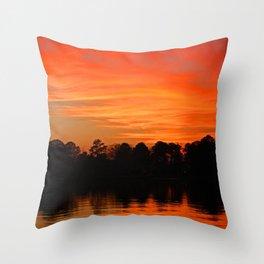 Orange Delight Throw Pillow