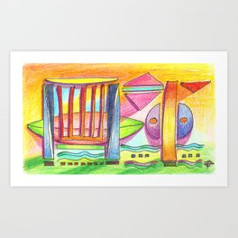 beach abstract Art Print