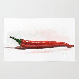 Hot like chili - digital painting Rug