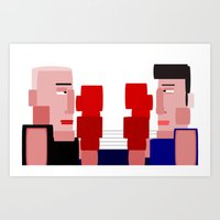 boxing Art Prints featuring boxing by eddalons
