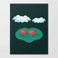 Hearts in the Clouds Canvas Print