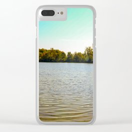 Panorama of an Ontario Forest during fall season Clear iPhone Case