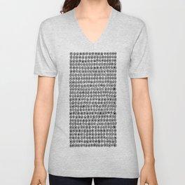 Black & White Circle Pattern Unisex V-Neck