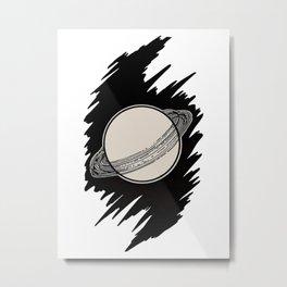 Alienist and neurologist - 1919 Saturn Rings Astronomy Illustration Metal Print