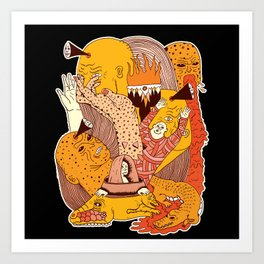The Golden Gator Art Print