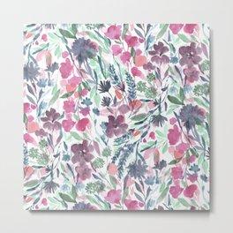 Upside Floral Metal Print