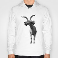 goat Hoodies featuring goat by Panic Junkie