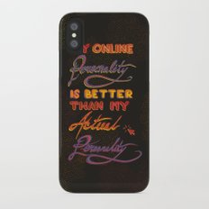 Online Personality iPhone X Slim Case