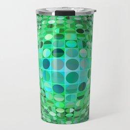 Optical Illusion Sphere - Green Travel Mug