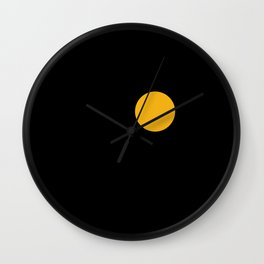 yellow point Wall Clock
