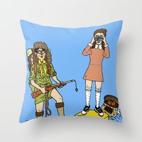 moonrise kingdom Throw Pillows featuring Moonrise Kingdom by Vincent Galea