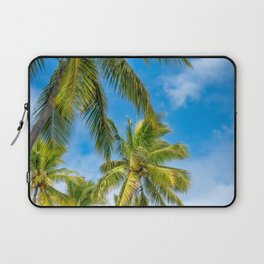 Coconut Palm Trees against the blue sky at Isle of Pines in New Caledonia. Laptop Sleeve