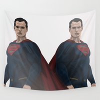 superman Wall Tapestries featuring Superman by siddick49