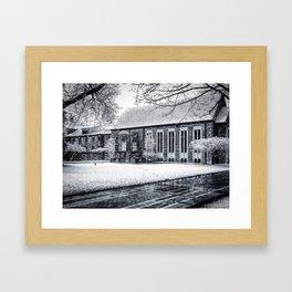 Snowy Quad Framed Art Print