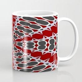 Red Black White Pattern Coffee Mug