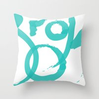 brooklyn Throw Pillows featuring Brooklyn by Pamalope