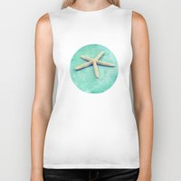 starfish Biker Tanks featuring starfish by Sylvia Cook Photography