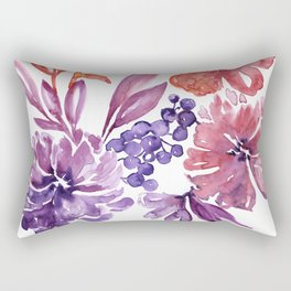 Floral abstract and colorful watercolor illustration Rectangular Pillow