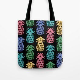 Retro Mid Century Modern Pineapple Pattern in Multi Colors 2 Tote Bag