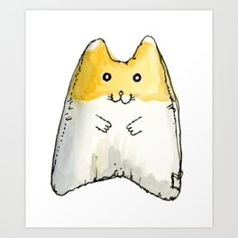 Hamster Squeaky Toy Art Print