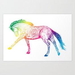 Cantering Rainbow Art Print