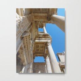 Library of Celsus Metal Print