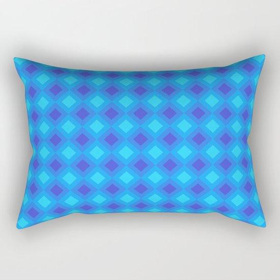 Dark Blue Cubes - Geometric Work Rectangular Pillow
