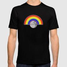 Death Star Rainbow Black MEDIUM Mens Fitted Tee