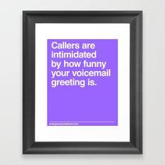 Voicemail Framed Art Print