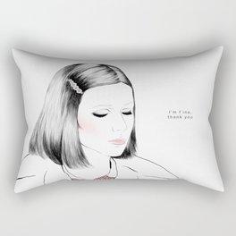 Gwyneth Paltrow (as Margot Tenenbaum) - Melancholia Serie Rectangular Pillow
