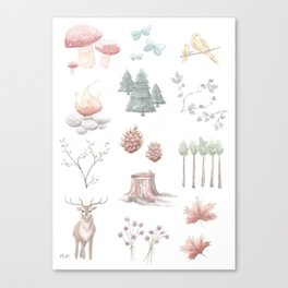 Woodland Finds Canvas Print