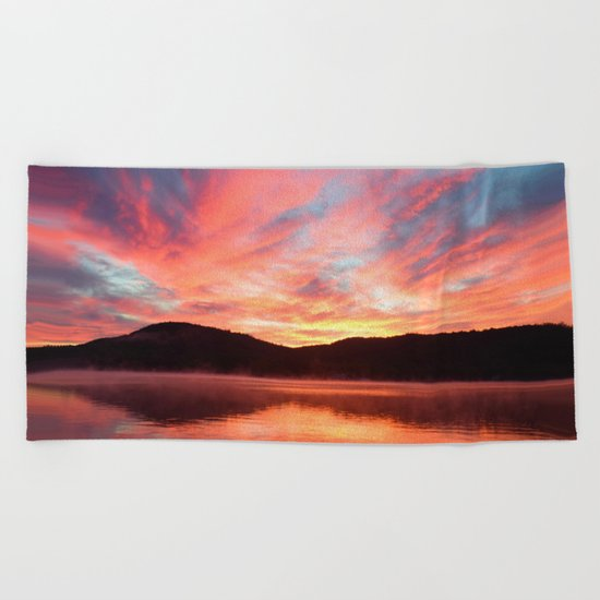 Angels in the Morning: Sunrise Beach Towel