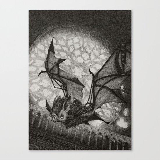 The Bat Rider  Canvas Print